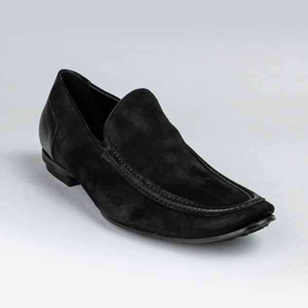 Rossi black suede slip-on