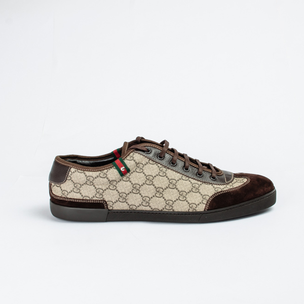 Gucci Brown Lace-up Sneakers