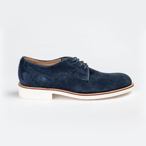 Tod's blue suede lace-up