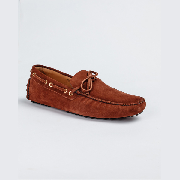 Car shoe brown suede drivers