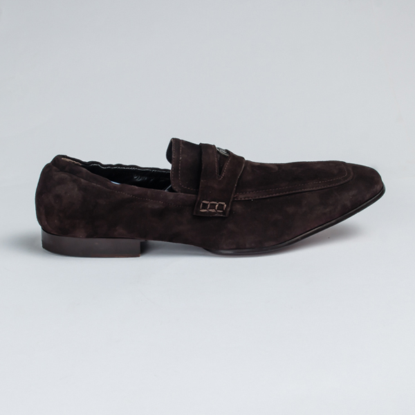John galliano brown suede moccasin