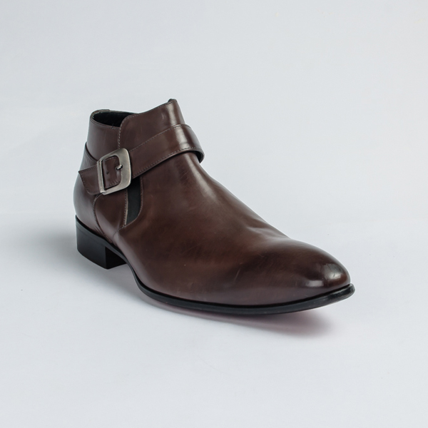 Profession bottier brown Chelsea boot with Monk Strap