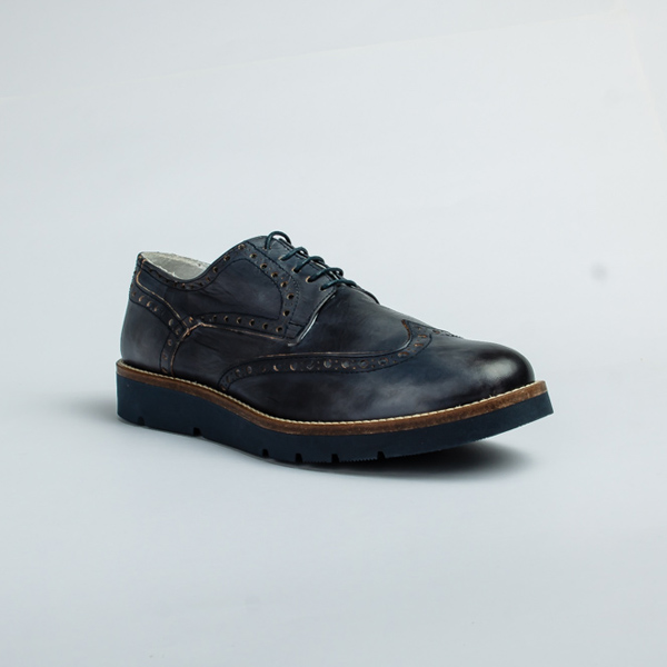 Vulcan blue lace up Brogues shoe