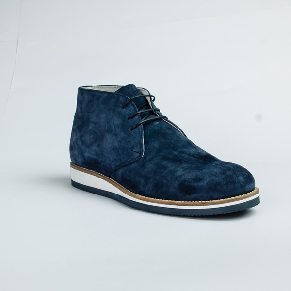 Vulcan blue high-top lace-up