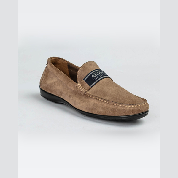 Armani Light brown Suede Moccasins