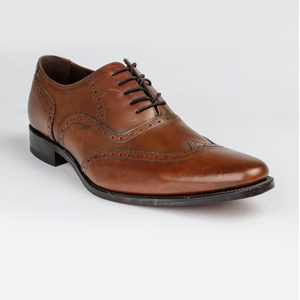 Loake brown leather lace-up