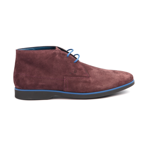 Tod's suede maroon colour Chukka boot