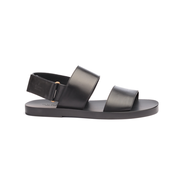 Black Leather Sandals by Gucci