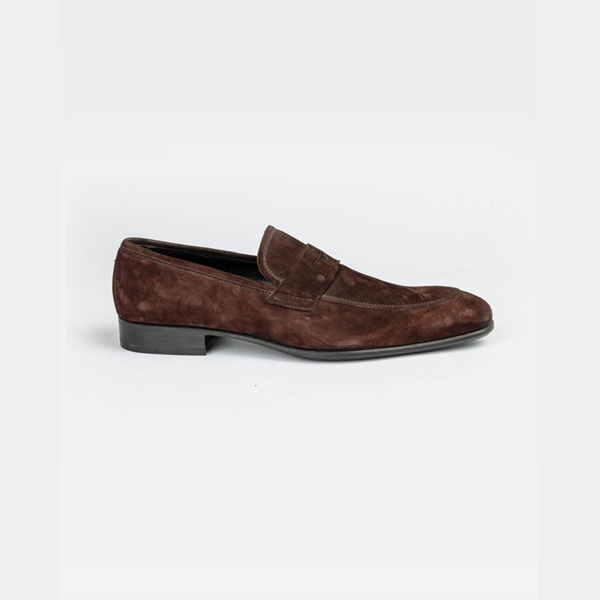 Doucals brown suede moccasin