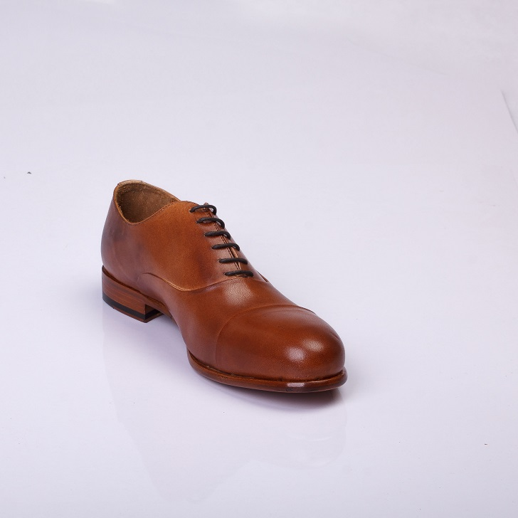 FPC Light Brown Leather Derby Lace-Up 2