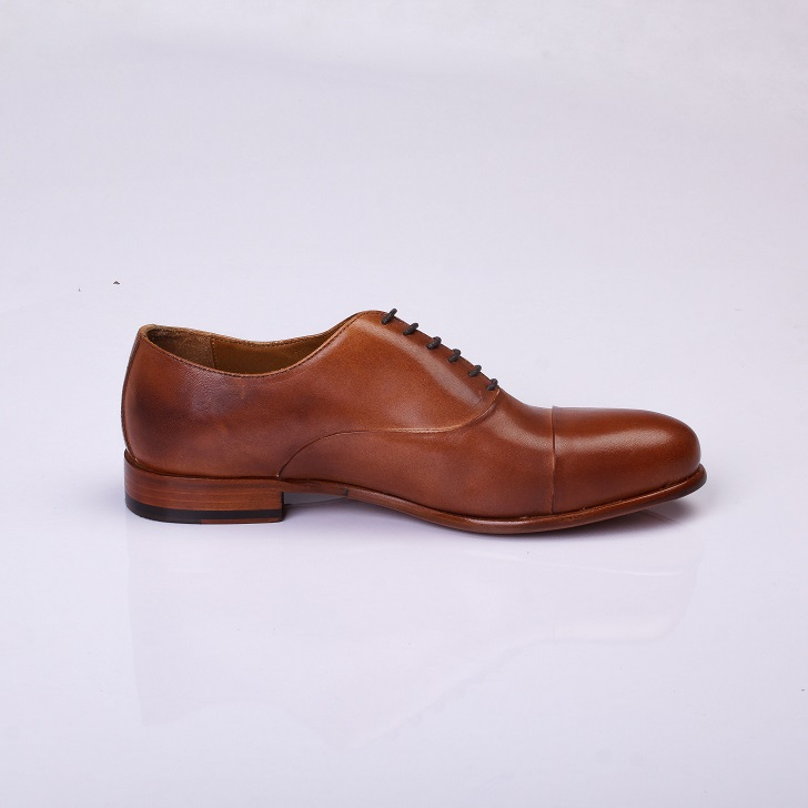 FPC Light Brown Leather Derby Lace-Up 3