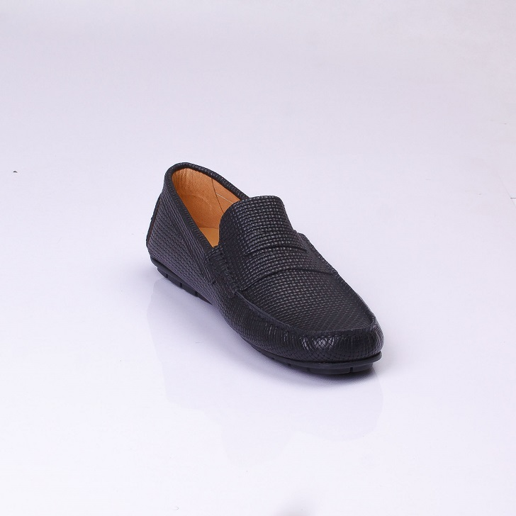 FPC Black Knitted Leather Drivers 3