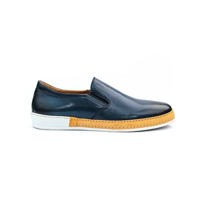 FPC Blue Leather Sneakers 2