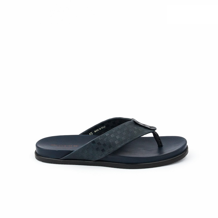 FPC Dark Blue Grafted Leather Thong Slippers