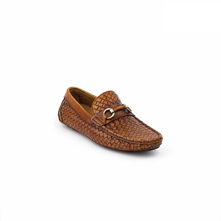 Magnanni Conac Knitted Brown Drivers with Horse-Bits