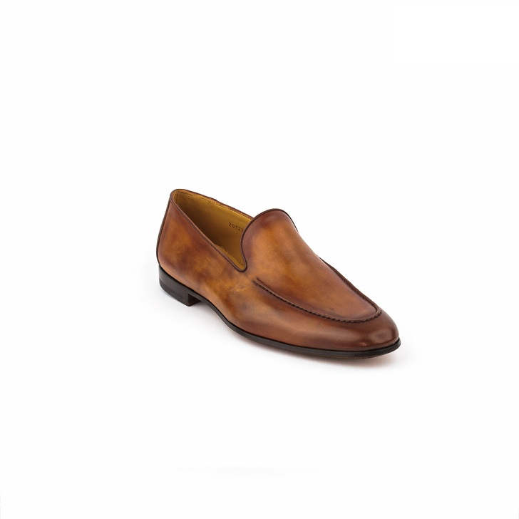 Magnanni Conac Brown Plain Toe Loafers