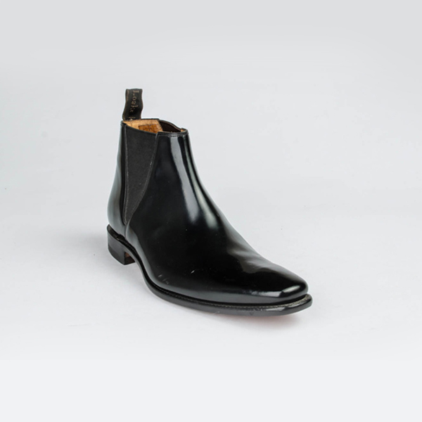 Loake black leather boots