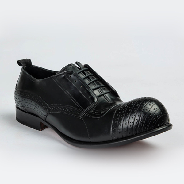 John Galliano black Chaplin lace-up
