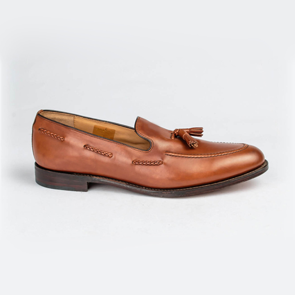 Loake tan brown slip-on