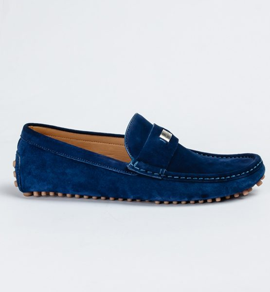 Gucci blue suede drivers - FrontPage