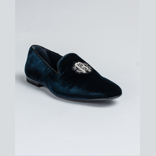 Cavalli blue suede loafers