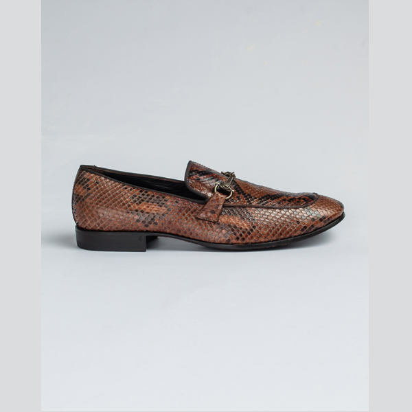 Cavalli snake skin bit loafers