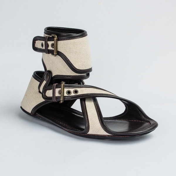 John Galliano eccentric gladiator sandals