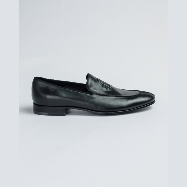 Cavalli black leather split toe loafers