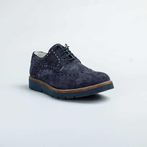 Vulcan blue suede lace-up Brogues shoe