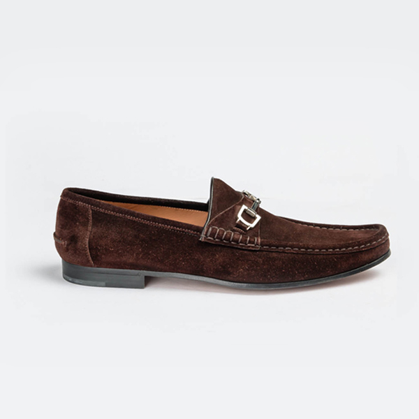 Gucci brown suede moccasin