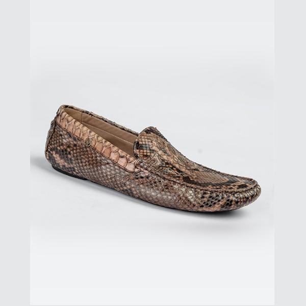 Cavalli brown elegant snake skin driver