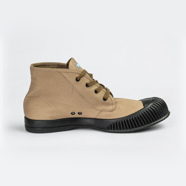Prada light brown high-top lace-up sneakers