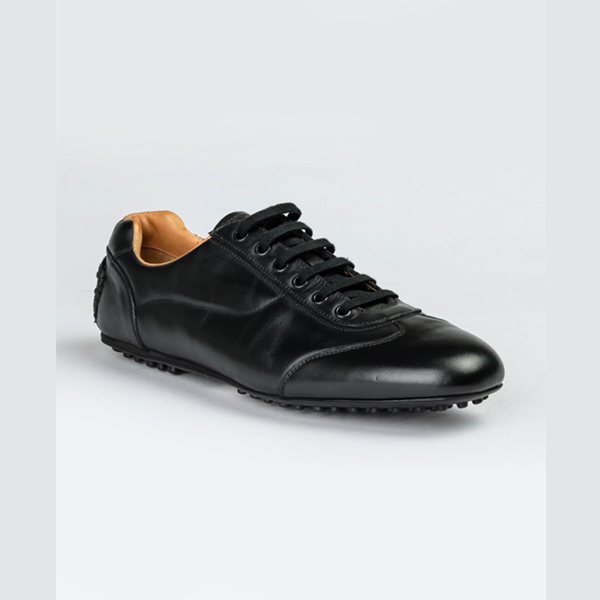 Car shoe original black calf leather sneakers