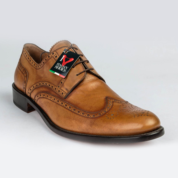 Rossi tan brown lace-up oxford Brogues