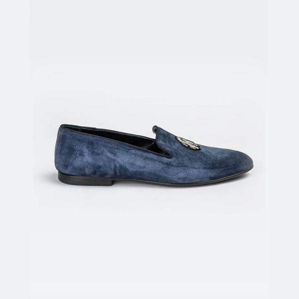 Cavalli light blue suede slip-on