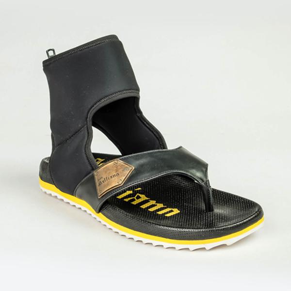 John Galliano black and yellow sandals