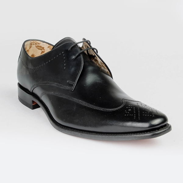 Loake Black leather lace-up