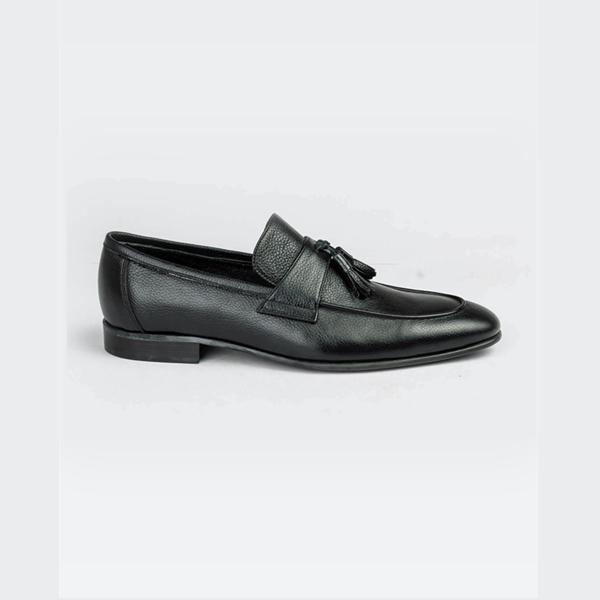 FPC black leather moccasins