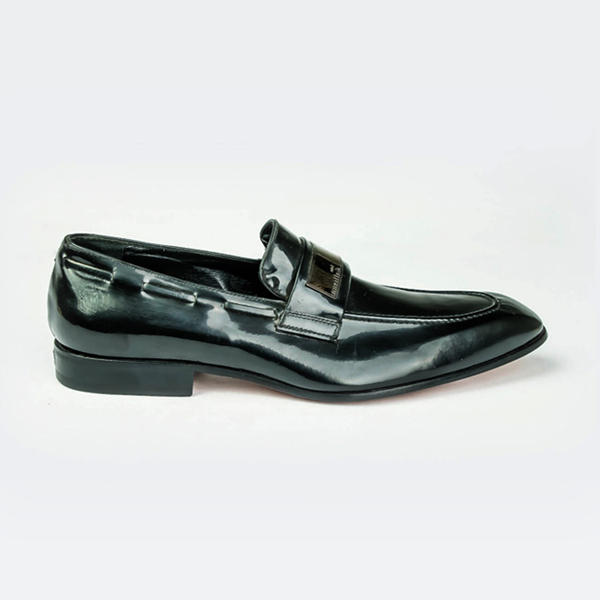 485b2d84f54 John Galliano black Patent leather penny loafers with detailing ...