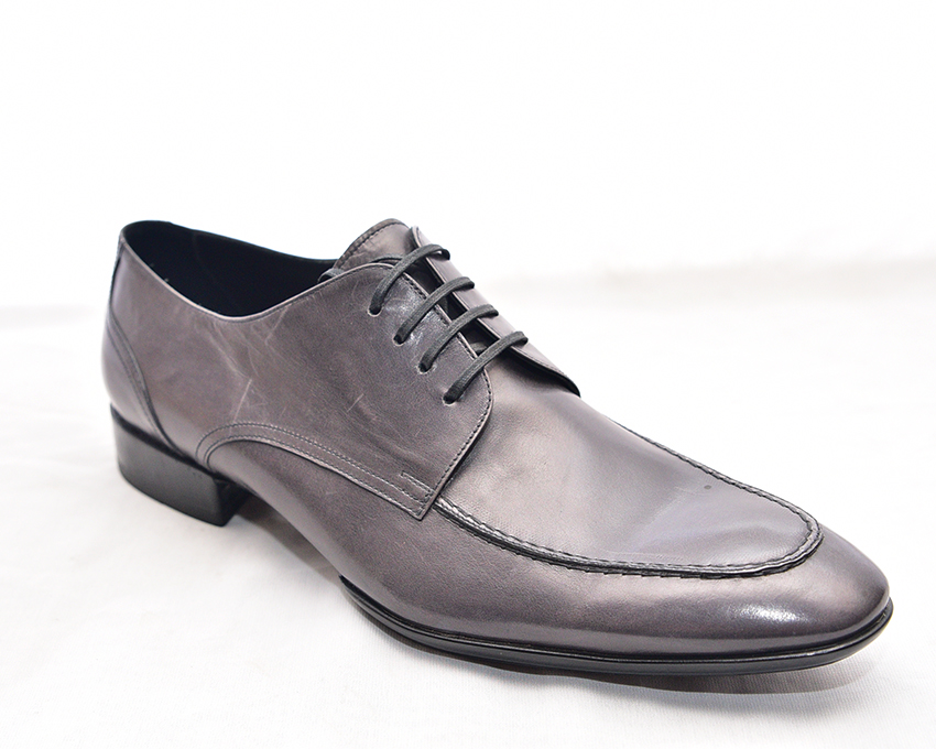 Grey Lace-up Derby by Doucal's