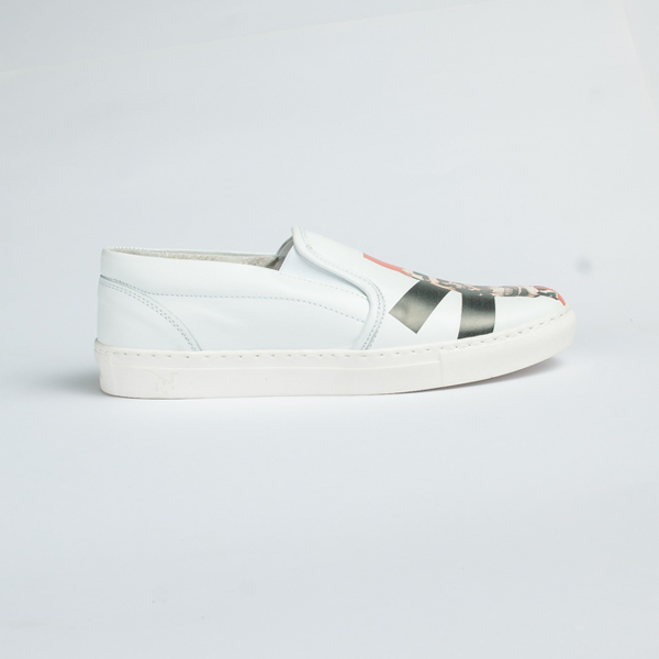 Vulcan white leather slip-on