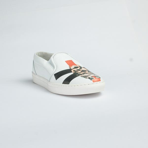 Vulcan white leather slip-on