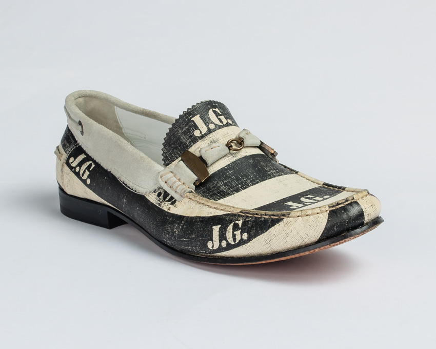 John Galliano Moccasin-Black & White
