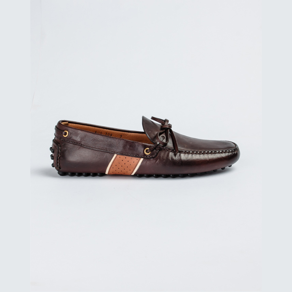 Car shoe brown leather drivers