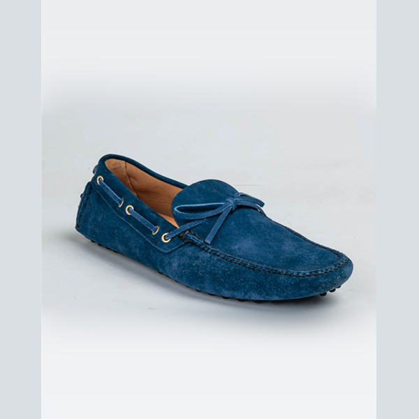 Car shoe original blue suede