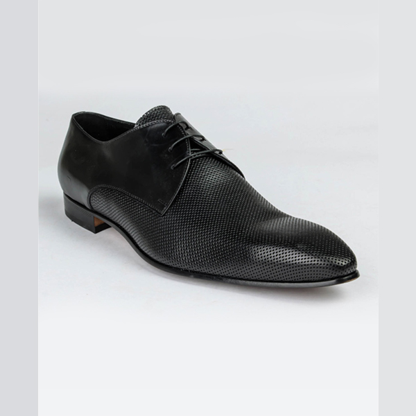 Doucals black leather lace-up