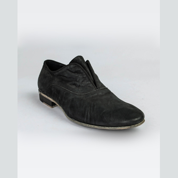Cavalli black leather slip-on