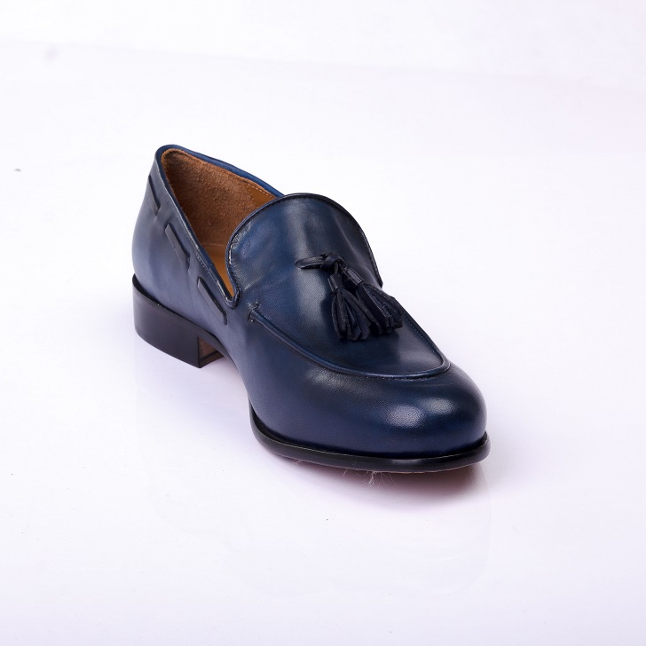 FPC Blue Leather Tassels Loafers 4
