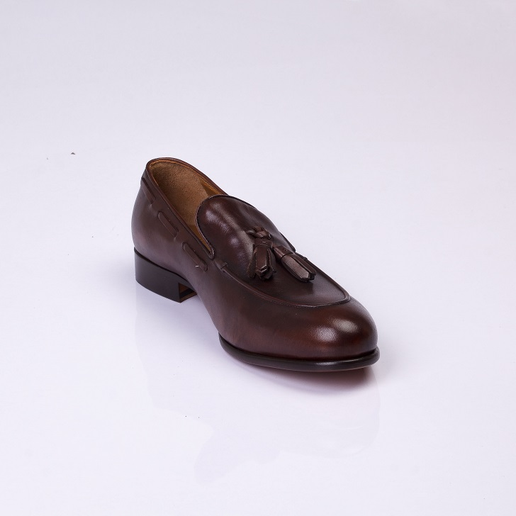 FPC Dark Brown Leather Tassels Loafers 2