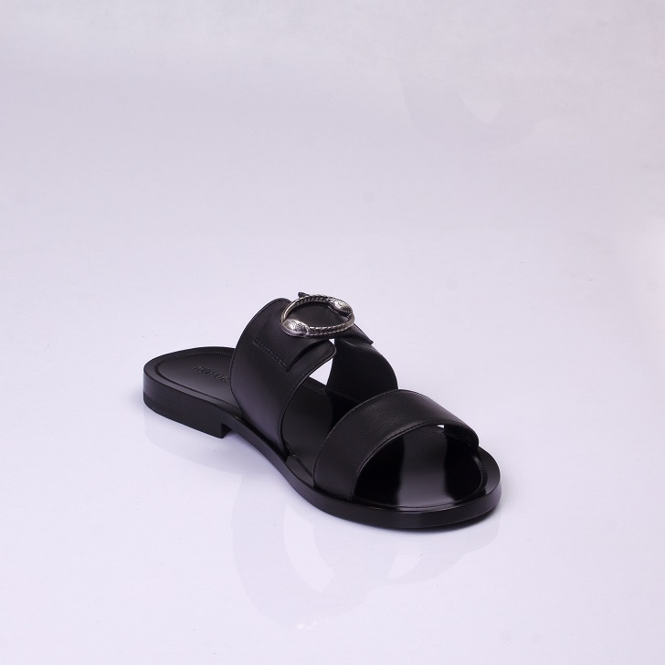 Roberto Cavalli Black Leather Sandals 3